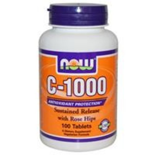 Now Foods Vitamin C-1000, mit Hagebutten und Bioflavonoide, 100 Tabletten