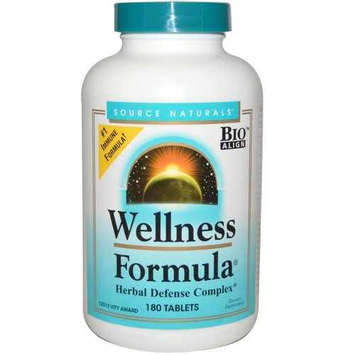 Source Naturals Wellness-Formel, mit Echinacea, 180 Tabletten