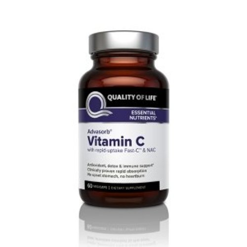 Quality of Life Labs Advasorb, Vitamin C, 60 Vegicaps
