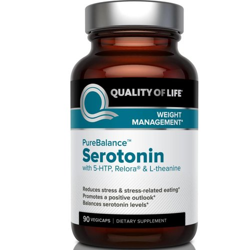 Quality of Life Labs Pure Balance, Serotonin, 90 Veggie Caps - Mit 5-HTP, Relora & L-Theanin