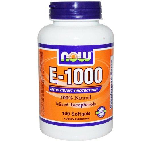 Now Foods Vitamin E-1000, 100 Kapseln