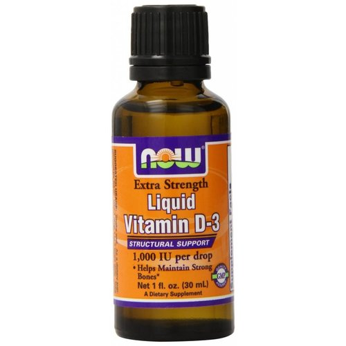 Now Foods Extra Strength Liquid Vitamin D-3, 1,000 IU, 1 fl oz (30 ml)