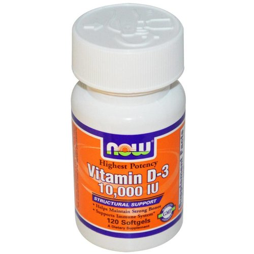 Now Foods Vitamin D-3 10.000 IU : Höchste Konzentration D3, 120 Softgels