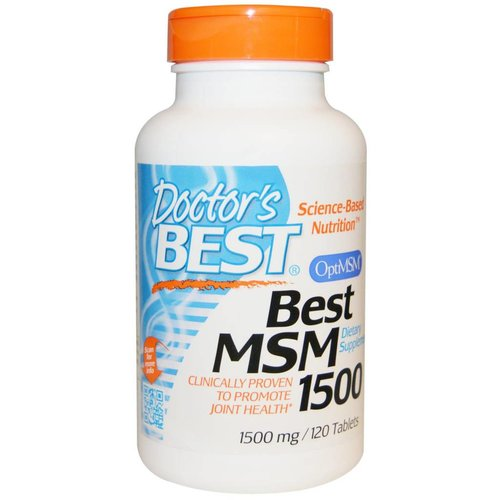 Doctor's Best Best MSM, 1500 mg, 120 Tabletten