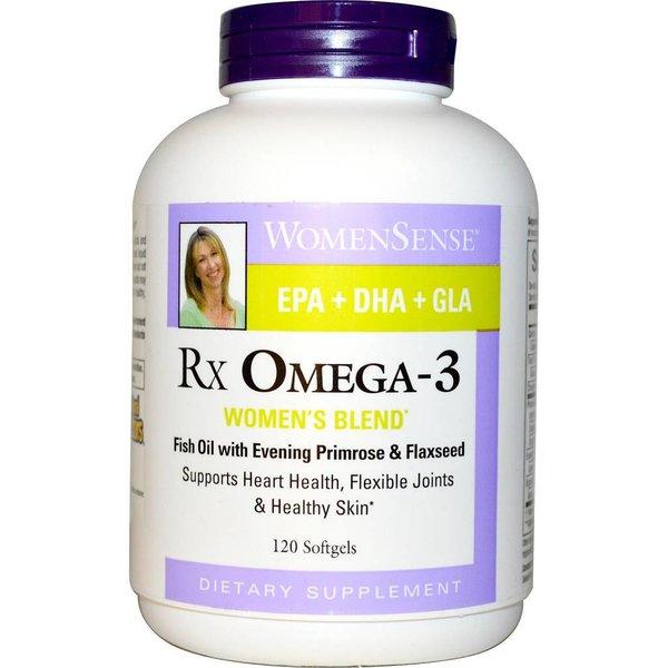 """Natural Factors WomenSense, RxOmega-3, Damen Blend, 120 Softgels: Essentielle Fettsäuren Formel für Frauen - """"Jede Frau, jeden Tag"""""""