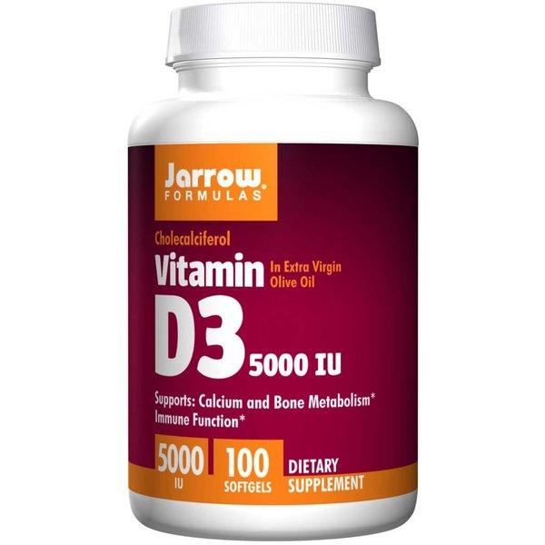 Jarrow Vitamin D3, 5000 IE, 100 Softgels- für die Knochengesundheit