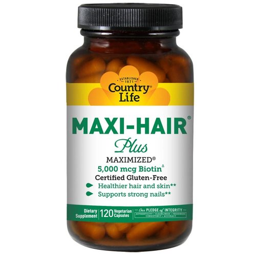 Country Life Maxi Hair Plus, 120 Veggie Caps