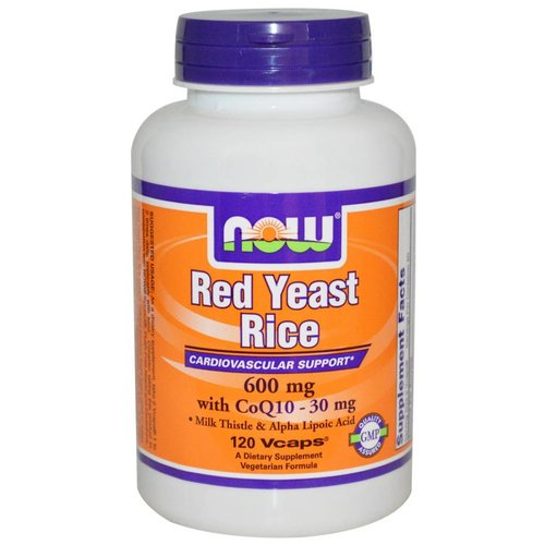 Now Foods NEU: Roter Reis (Red Yeast Rice), mit CoQ10 - 30 mg, 600 mg, 120 Vcaps