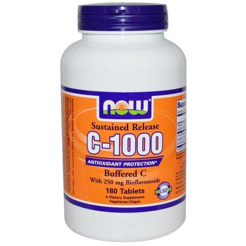 Now Foods Vitamin C-1000 Komplex, Buffered C mit verzögerter Freisetzung, 180 Tabletten
