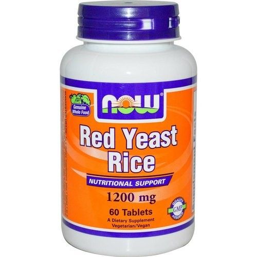 Now Foods Roter Reis: (Red Yeast Rice) (1200mg) 60 Tabletten