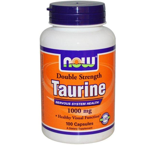 Now Foods Taurin - Doppelte Stärke, 1000 mg (100 Kapseln) - Für ein gesundes Nervensystem