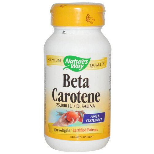 Nature's Way Nature's Way, Beta Carotene, 25,000 IU / D. Salina, 100 Softgels
