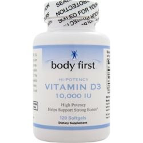 BODY FIRST (AllstarHealth) D3 - High Potency (10,000IU) 120 Sofgels