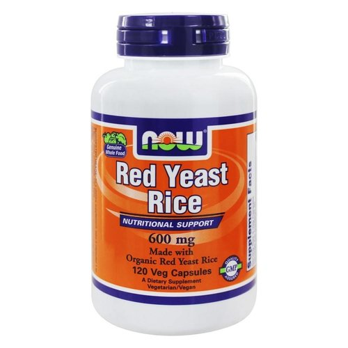 Now Foods Red Yeast Rice: Roter Reis, 600 mg, 120 Veggie Caps