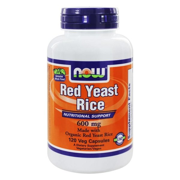 Now Foods Red Yeast Rice: Roter Reis, 600 mg, 120 Veggie Caps: Cholesterin-Unterstützung (Organic)