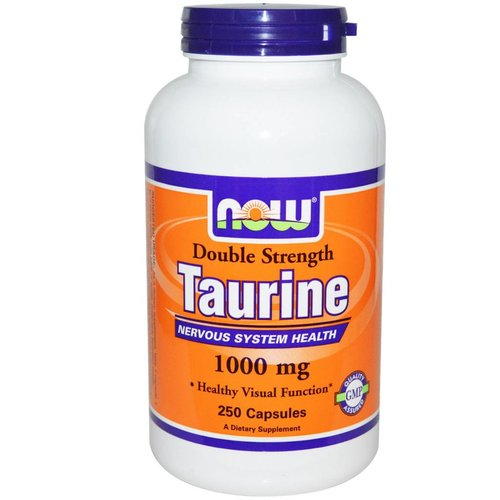 Now Foods Taurin, Double Strength, 1000 mg, 250 Kapseln (Taurine)