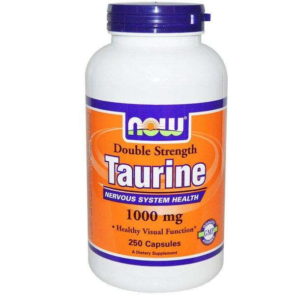 Now Foods Taurin, Double Strength, 1000 mg, 250 Kapseln: Für ein gesundes Nervensystem