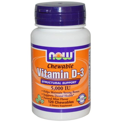 Now Foods Vitamin D-3 5.000 IE - 120 Chewables: Kautabletten
