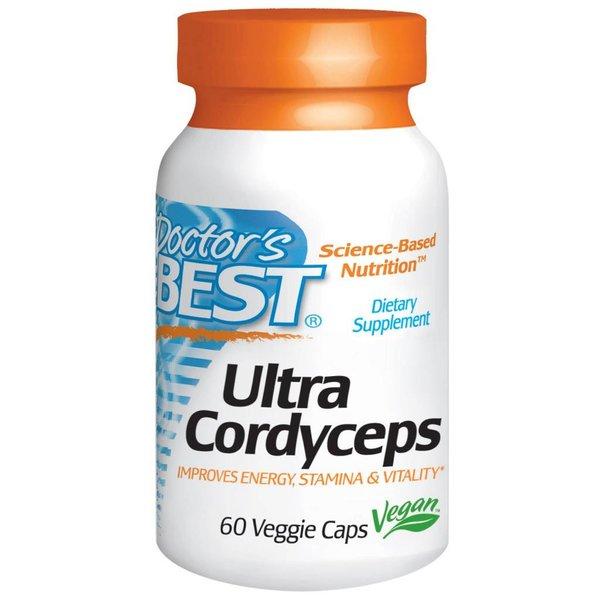Doctor's Best Ultra Cordyceps Plus 60 Veggie Caps (Rauenpilz) für Kondition und Leistungsfähigkeit