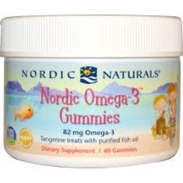 Nordic Naturals Nordic Omega-3 Gummibärchen, Manderine, 60 Stück (Omega 3 Gummibärchen für Kinder)