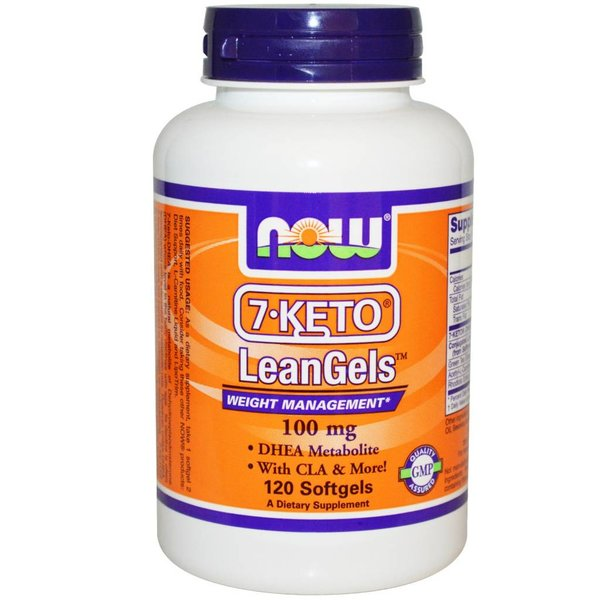 Now Foods 7-Keto LeanGels, 100 mg, 120 Kapseln: Gewichtsmanagement DHEA Metabolit
