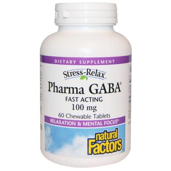 Natural Factors Schnellwirkendes GABA, 100 mg (60 Kautabletten) - Stress-Relax