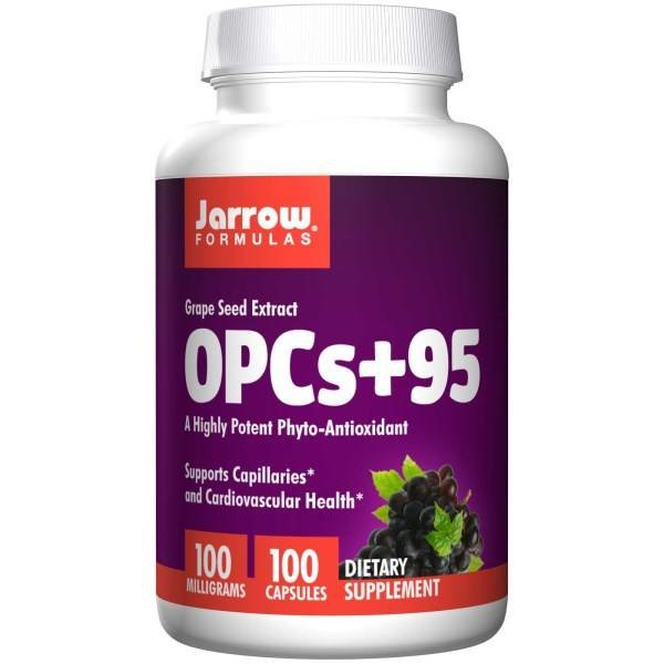 Jarrow Traubenkernextrakt OPCs + 95, 100 mg (100 Kapseln) - Hochpotentes Phyto-Antioxidans