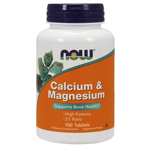 Now Foods Kalzium & Magnesium 100 Tablets