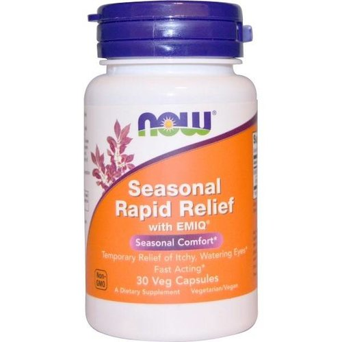 Now Foods Saisonale Allergie Formel (Rapid Relief) mit EMIQ, 30 Veggie Caps