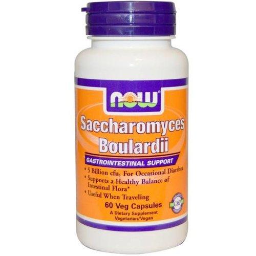 Now Foods Saccharomyces Boulardii, Magen-Darm-Unterstützung, 60 Veggiekapseln