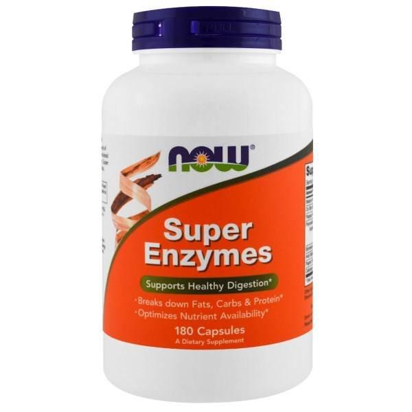 Now Foods Super-Enzyme, 180 Kapseln: Gesund Verdauen: Bricht Fettzellen, Kohlenhydrate & Protein auf