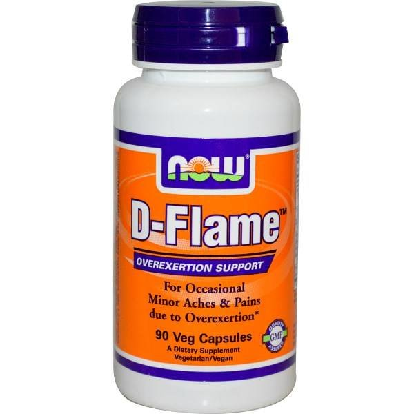 Now Foods D-Flame, 90 Veggie-Kapseln: Overexertion Support