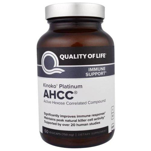 Quality of Life Labs Kinoko Platin (Platinum) AHCC, 750 mg, 60 Veggie Caps: Hochkonzentriertster Immun Support