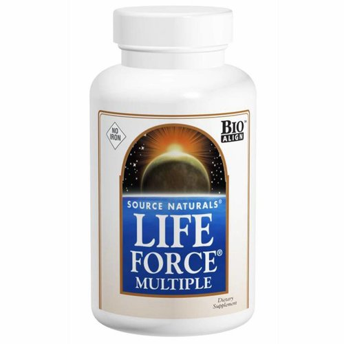 Source Naturals Life Force Multiple, Ohne Eisen 180 Capsules: Energieaktivator