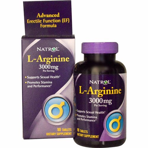 Natrol L-Arginine, 3000 mg, 90 Tabletten