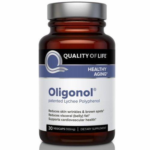 Quality of Life Labs Oligonol, 100 mg, 30 vegetarische Kapseln: Reduziert Hautfalten und braune Flecken