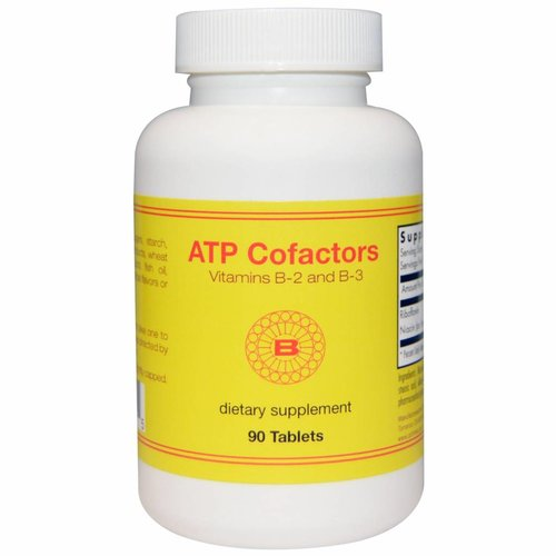 Optimox ATP Cofactors Vitamin B-2 und B-3, 90 Tabletten