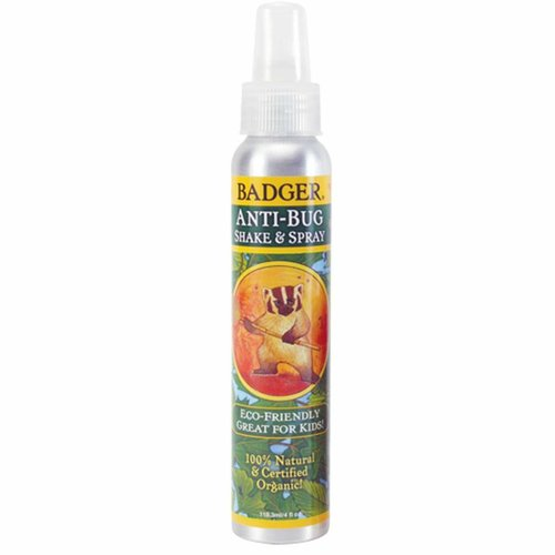 Badger Company Organic Anti-Insekten Shake und Spray , 4 fl oz (118.3 ml)