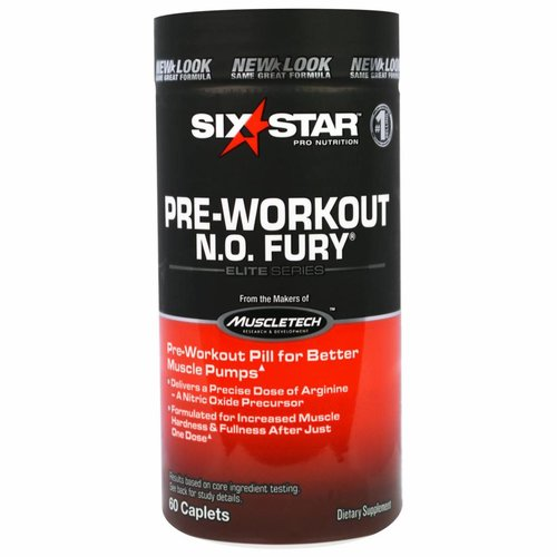 Six Star Six Star Pro Nutrition, N. O. Fury, Elite Series, 60 Filmtabletten