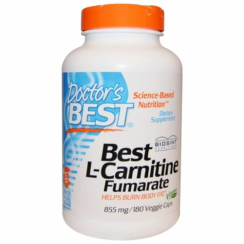 Doctor's Best L-Carnitine Fumarate, 855 mg, 180 vegetarische Kapseln