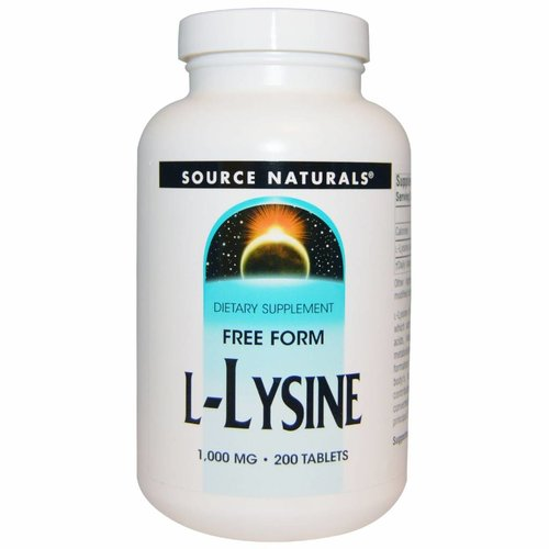 Source Naturals L-Lysin, 1000 mg, 200 Tabletten