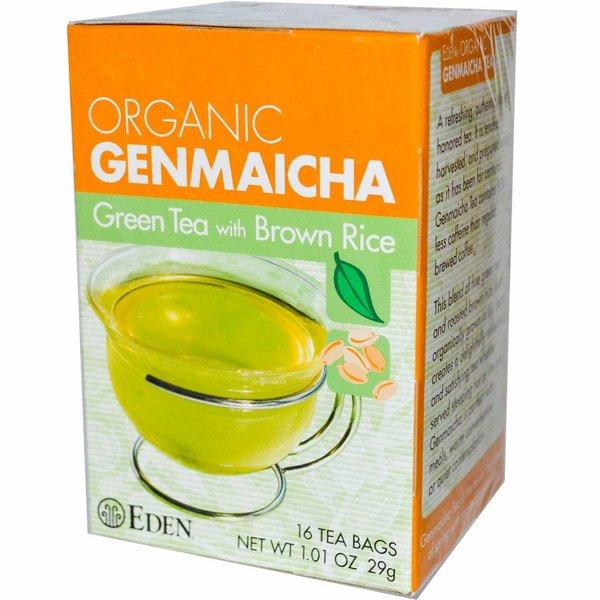 Eden Organic Genmaicha, Grüner Tee mit Braunem Reis, 16 Teebeutel 1.01 oz (29 g): OCIA Certified Organic