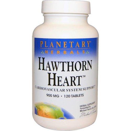 Planetary Herbals Weißdorn Herz Support, 900 mg, 120 Tabletten