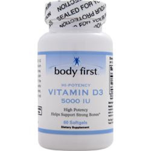 BODY FIRST (AllstarHealth) Vitamin D3 (5000IU) 60 Softgels