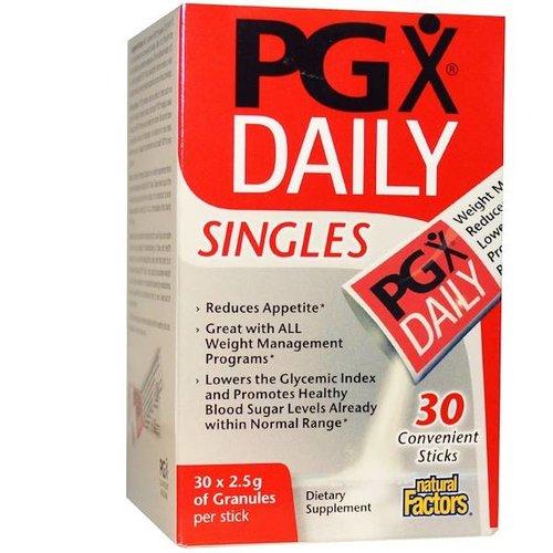 Natural Factors PGX Täglich, Singles, Geschmackloses Granulat, 30 Sticks, je 2,5 g