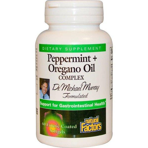Natural Factors Pfefferminz- + Oreganoölkomplex, 60 magensaftresistente Softgels:Dr. Michael Murray's Formel