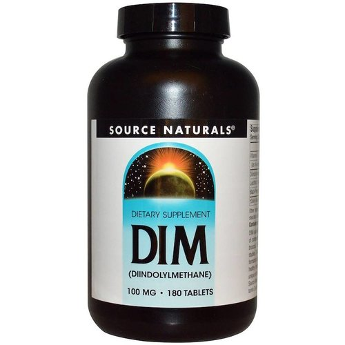 Source Naturals DIM (Diindolylmethan), 100 mg, 180 Tabletten