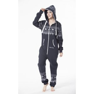 Nordic Way Onesie Print Jumpsuit Navy