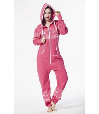 Onesie Jumpsuit Print Pink