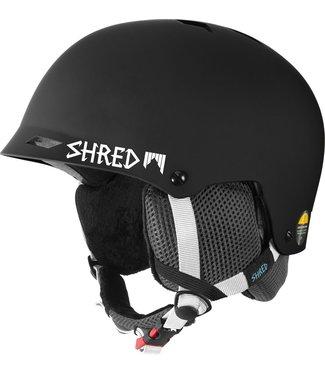 SHRED Half Brain Clarity - Schwarzer Skihelm